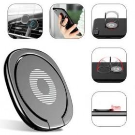 Metal iRing Smartphone Holder - R20 - Black - 2