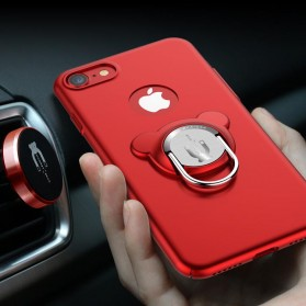 Hardcase 3 in 1 Magnetic iRing & Car Air Vent Holder for iPhone 7/8 Plus - Red - 3