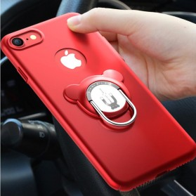 Hardcase 3 in 1 Magnetic iRing & Car Air Vent Holder for iPhone 7/8 Plus - Red - 4
