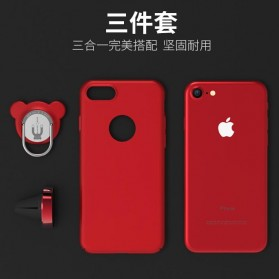 Hardcase 3 in 1 Magnetic iRing & Car Air Vent Holder for iPhone 7/8 Plus - Red - 5