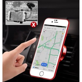 Hardcase 3 in 1 Magnetic iRing & Car Air Vent Holder for iPhone 7/8 Plus - Red - 8