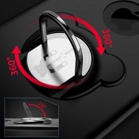 Hardcase 3 in 1 Magnetic iRing & Car Air Vent Holder for iPhone 6/6s - Red - 6