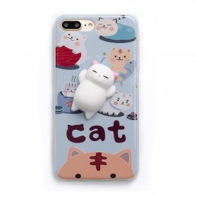 Case Squishy Book Pile Cat for iPhone 7/8 - 8