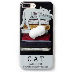 Case Squishy Book Pile Cat for iPhone 7 Plus / 8 Plus - 1