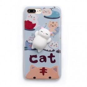 Case Squishy Book Pile Cat for iPhone 7 Plus / 8 Plus - 8