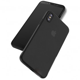 Ultra Thin Glossy Hard Case for iPhone X - Black