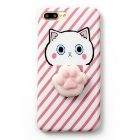 Case Squishy Cat Claw for iPhone 7/8 - Pink