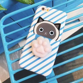 Case Squishy Cat Claw for iPhone 7/8 - Blue - 1