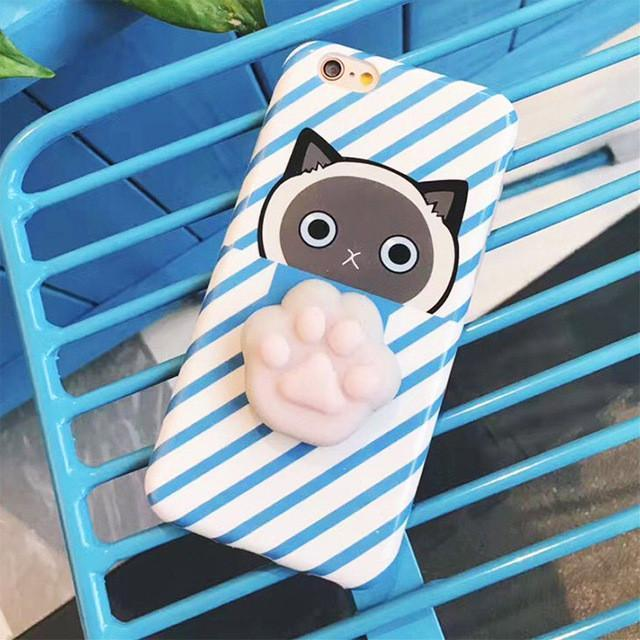 new product 2de24 fed5b Case Squishy Cat Claw for iPhone 7 Plus / 8 Plus - Blue