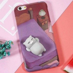 Case Squishy Cartoon Cute for iPhone 7/8 - Purple - 1