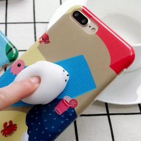 Case Squishy Cartoon Cute for iPhone 7/8 - Purple - 2