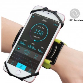 NEWPPON Wristband Smartphone Holder 180 Degree Rotatable - Black