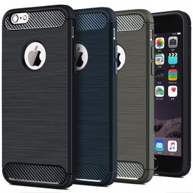 TPU Silicone Case Carbon Fiber for iPhone 7/8 Plus - Black - 3