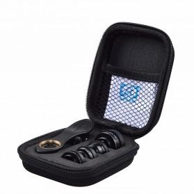 APEXEL 5 in 1 Lensa CPL Fisheye Macro Telephoto Wide Angle Lens - APL-DG5H - Black - 9