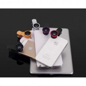 Lensa Smartphone 3 in 1 Fisheye Macro Wide Angle Lens - Black - 8