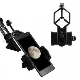 TaffSTUDIO Smartphone Holder untuk Teropong Binocular Monocular Telescope - CM4 - Black - 4