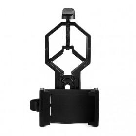 TaffSTUDIO Smartphone Holder untuk Teropong Binocular Monocular Telescope - CM4 - Black - 5
