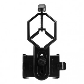 TaffSTUDIO Smartphone Holder untuk Teropong Binocular Monocular Telescope - CM4 - Black - 6
