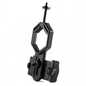 TaffSTUDIO Smartphone Holder untuk Teropong Binocular Monocular Telescope - CM4 - Black - 7
