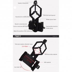 TaffSTUDIO Smartphone Holder untuk Teropong Binocular Monocular Telescope - CM4 - Black - 8