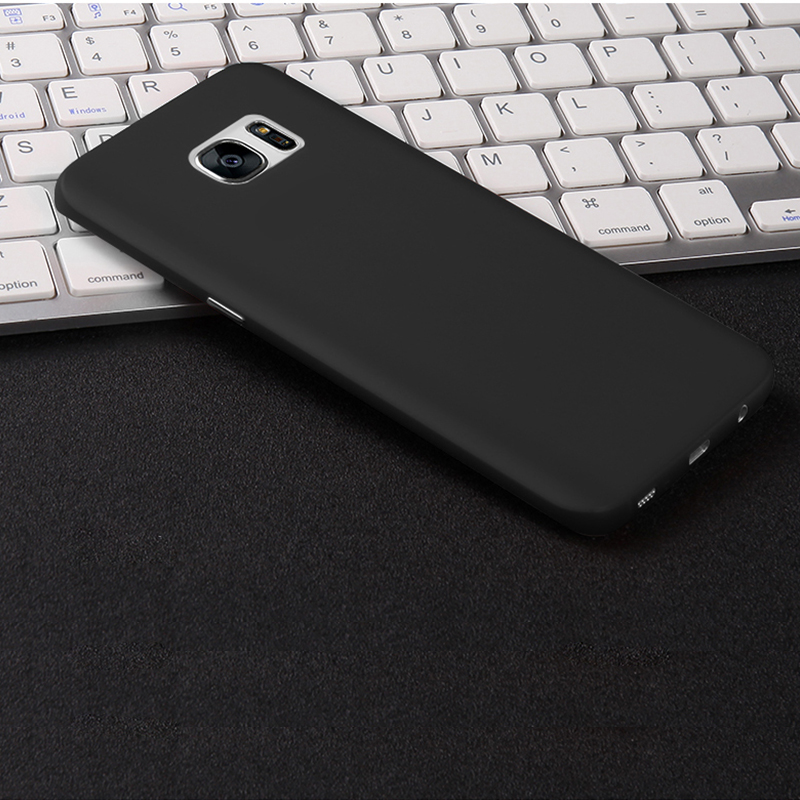 ... CAFELE Scrub Hardcase for Samsung Galaxy S6 Edge Plus - Black - 5 ...