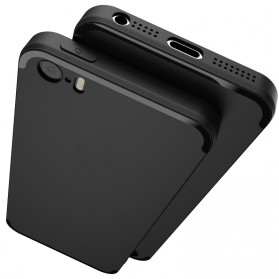 TOPK Silicone Case for iPhone 5/5s/SE - Black - 2