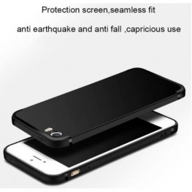 TOPK Silicone Case for iPhone 5/5s/SE - Black - 6