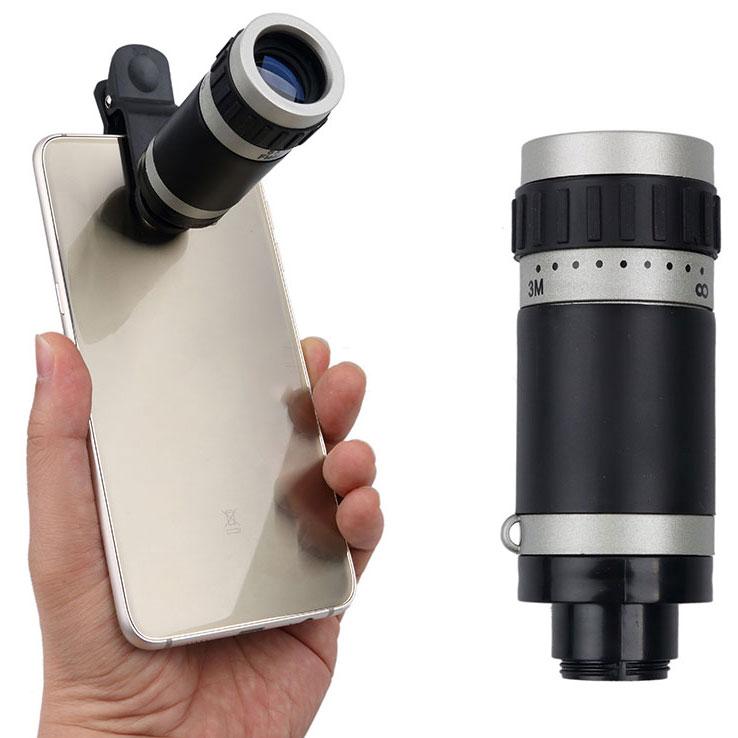 ... Lensa Tele Zoom 8X untuk Smartphone - Gray Silver - 1 ...