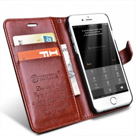 Flip Case Leather for iPhone 7/8 - Brown