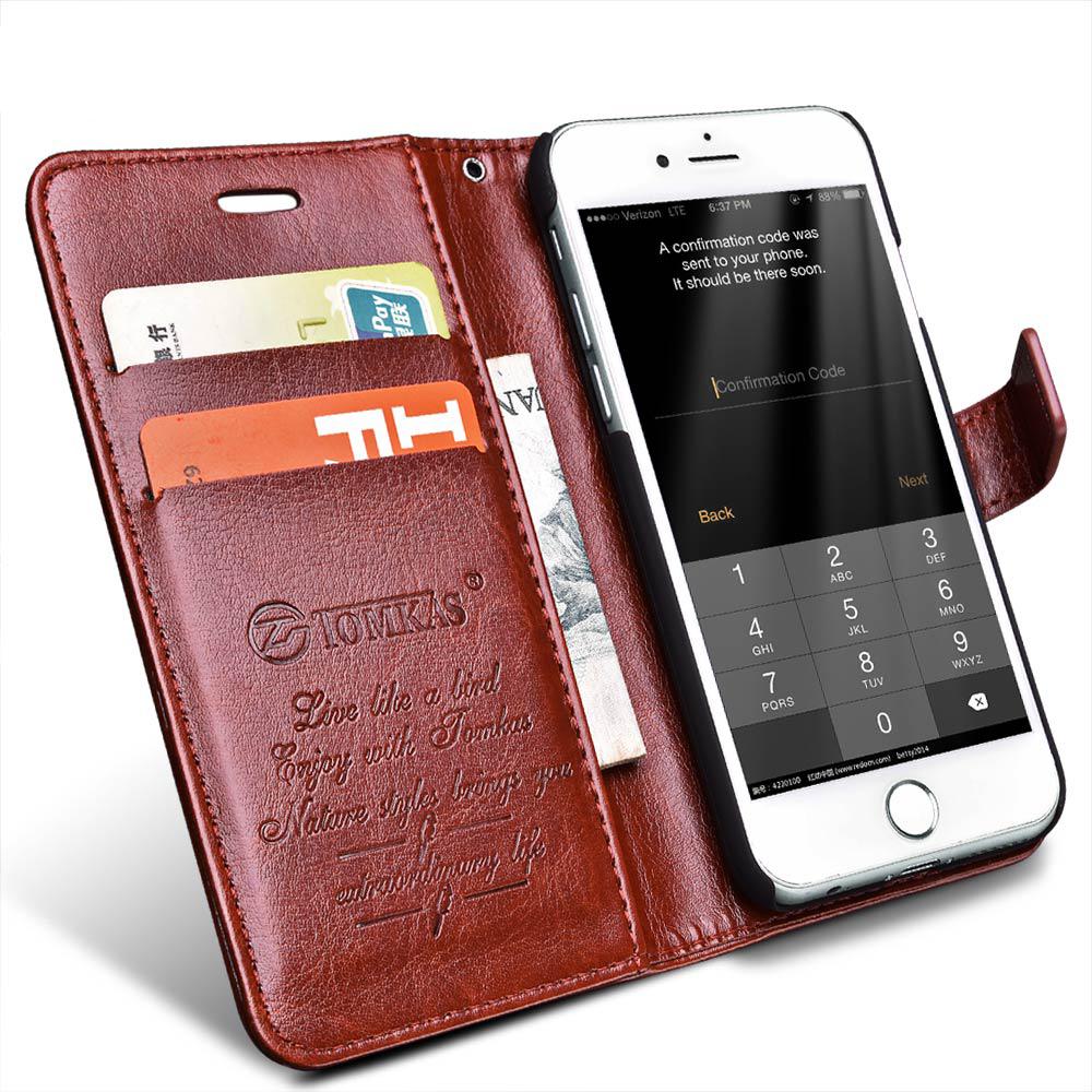 flip case leather for iphone 7 brown. Black Bedroom Furniture Sets. Home Design Ideas