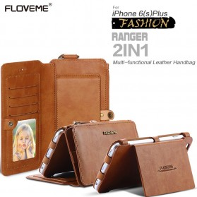 Floveme Flip Case Leather for iPhone 7/8 - Black - 2
