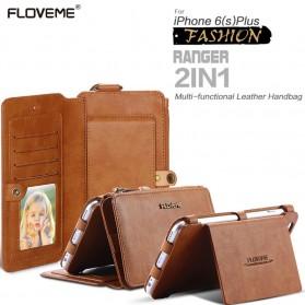 Floveme Flip Case Leather for iPhone 7 Plus/8 Plus - Black - 2