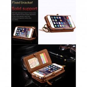 Floveme Flip Case Leather for iPhone 7 Plus/8 Plus - Black - 4