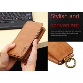 Floveme Flip Case Leather for iPhone 7 Plus/8 Plus - Black - 5