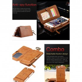 Floveme Flip Case Leather for iPhone 7 Plus/8 Plus - Black - 6