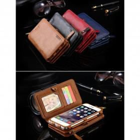 Floveme Flip Case Leather for iPhone 7 Plus/8 Plus - Black - 8