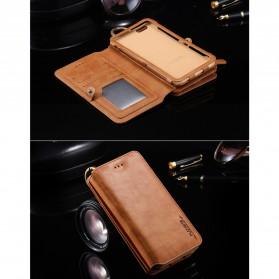 Floveme Flip Case Leather for iPhone 7 Plus/8 Plus - Black - 10