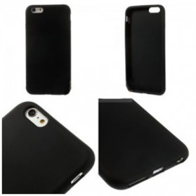 Frosted Plastic Sillicone TPU Softcase for iPhone 6/6s - Black