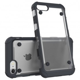 Armor Shockproof Clear Hardcase for iPhone 7/8 - Black