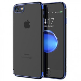Floveme Luxury Transparent Softcase for iPhone 7/8 - Blue - 1