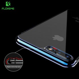 Floveme Luxury Transparent Softcase for iPhone 7/8 - Blue - 2