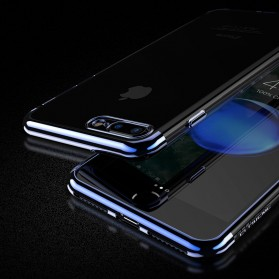 Floveme Luxury Transparent Softcase for iPhone 7/8 - Blue - 3