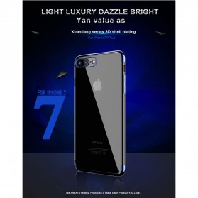 Floveme Luxury Transparent Softcase for iPhone 7/8 - Blue - 7