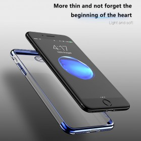 Floveme Luxury Transparent Softcase for iPhone 7/8 - Blue - 9