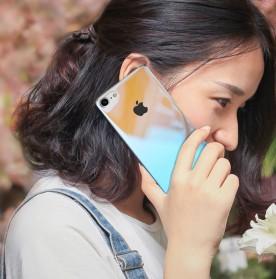 Gradient Mirror Hardcase for iPhone 7 Plus / 8 Plus - Blue - 6