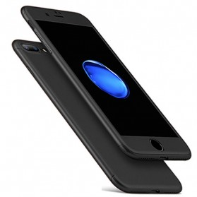 Full Cover Hard Case Shell for iPhone 7 Plus / 8 Plus - Black