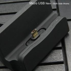 Charging Dock Micro USB Sync Data Transfer - Black