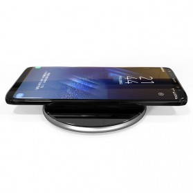 Qi Wireless Charger Dock Fast Charge for Smartphone - Black