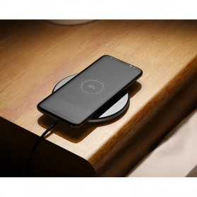 Qi Wireless Charger Dock Fast Charge for Smartphone - Black - 5