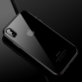 CAFELE Softcase Transparant for iPhone X - Black